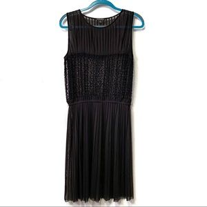 Timeless by Naeem Khan Pleated Lace Dress/Tunic